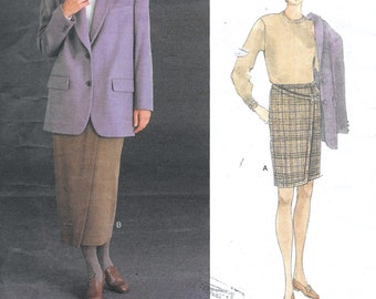 Vogue ANNE KLEIN II Jacket & Skirt Sewing Pattern Business Wear Suit Uncut Size 12, 14 and 16