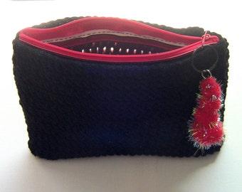 Cosmetic Bag, Makeup Bag, Zipper Clutch, Mini Purse, Travel Pouch, Purse