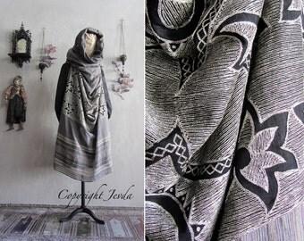 Scarf Shawl, Art To Wear shawl, Ethnic Shawl, Infinity Scarf, Oversized Scarf, Gypsy Clothing, Gypsy Shawl, Bohemian Shawl, Hooded Scarf