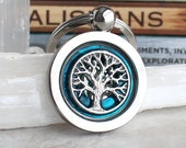 blue tree of life keychain, mens keychain, mens keyring, celtic keychain, mens gift, celtic tree, oak tree, boyfriend gift, unique gift
