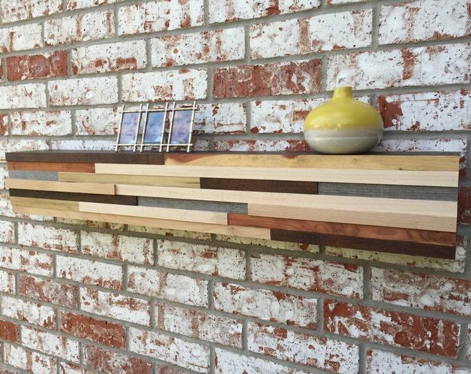 teepee shelf wood floating shelf with gradient and metallic
