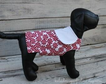 Tiny Dog Candy Cane Dog Jacket Size X-Small
