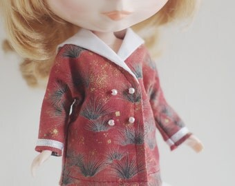Sailor collar jacket  for Blythe, Licca, 22cm doll or similar size doll