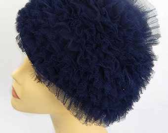 Original Vintage 1960s Navy Netted Hat