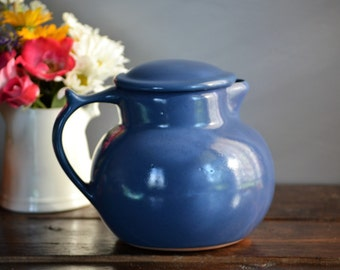 1994 Blue Cupper Coffee Carafe / Christian Ridge Pottery