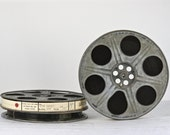 Vintage Film Reel With Original Film, Movie Reel, Vintage Goldberg Film Reel, Vintage Movie Film Star Chaser 3D 1985, Vintage Animated Movie