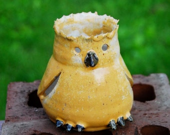 Decorative Pottery Canary Yellow Bird Lantern