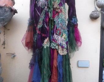 20%OFF gothic steampunk bohemian jacket gypsy velvet coat..medium to 48''  bust....