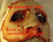 Skinned Horror Half Mask -Christopher-
