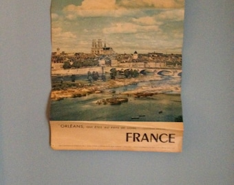 France travel agency poster vintage   french 1964 orleans printed in france