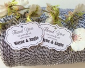 Starts at 50 Tiny Personalized  Wedding Favor tags PLAIN SIMPLE ELEGANT