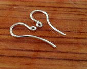 SALE** 5 pairs sterling silver ear wires, french hook, ear hooks, handmade supplies, handcrafted findings,earring components,  jewelry ma...