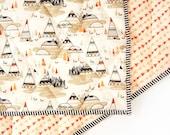 TEEPEES GRAY - baby blanket - tribal toddler comforter - baby crib blanket - modern crib bedding