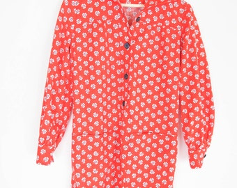 vintage 70s bohemian floral babydoll style shirt