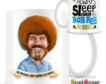 Bob Ross - Always Sleep Better Mug / Officially licensed Bob Ross coffee cup