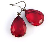 Karina Earrings in Bright Ruby