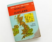 Highlands of Scotland Guidebook. Ward Lock Red Guide. Vintage Scottish travel guide. Scotland travelbook, souvenir, ancestry