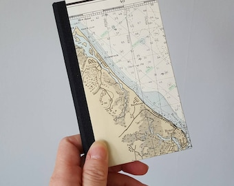 SALE - Adventure Journal - Cape Cod Vintage Nautical Map Travel Journal - Pocket Journal - Graduation Gift - Father's Day Gift