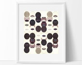modern mid century, Graphic art, neutral colors, geometric art, circles, modern painting, abstract painting