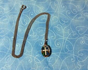Vintage Cross Pendant Necklace, cross necklace, pendant cross