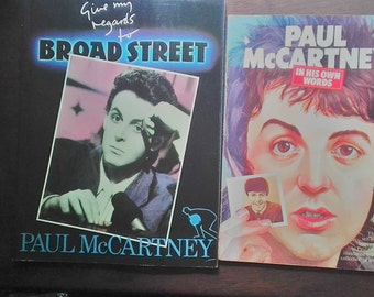 Paul McCartney Books, In His Own Words & Give My Regards to Broad Street