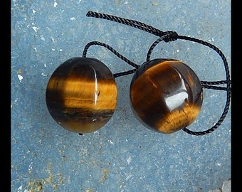 Tiger Eyes Faceted Earring Beads,15mm,9.8g