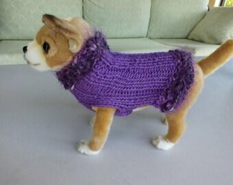 Dog Sweater 7 inches long Merino Wool XXX Small
