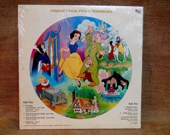 Walt Disney'S - Snow White and the Seven Dwarfs...Soundtrack - 1968 Vintage Record Album...Disney Picture Disc