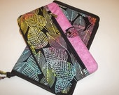 Deluxe Spill Proof Needlecase in Sassy Leaves with Pink for tips, circs and long dpns