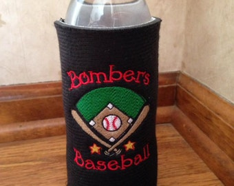 Personalized Embroidered Beverage Insulators for Water Bottles