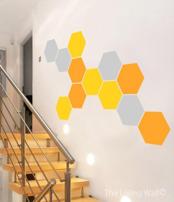 Wall Decor Hexagon : Honeycomb wall decal hexagon decor stickers mural art
