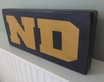 ND Freestanding Wood Block In Distressed Finish