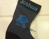 Police/Sheriff/Law Enforcement Officer personalized stocking or gift bag