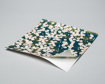 Moonlight Garden Hand-Silkscreened Japanese Chiyogami Yuzen Adhesive Back Sticker Washi SKU# RSW - 1025