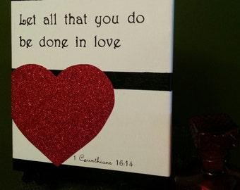 1st CORINTHIANS 16:14 Canvas