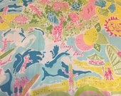 Fabric Mouse Pad Lillywood made with Lilly Pulitzer Fabric San Diego Zoo