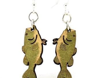 Bass Fish Earrings