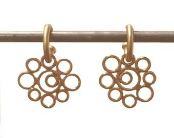 22k Bubble Dangles for Hoops - Interchangeable Earrings