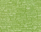 The Cookie Exchange Grass Green Joy Words by Sweetwater  for Moda