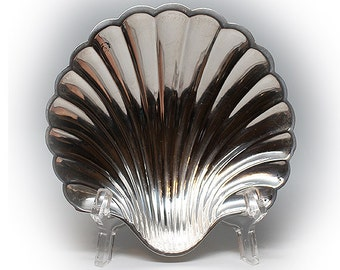 """Vintage M. FRED HIRSCH 5"""" Sterling Silver Footed Shell Dish 220"""