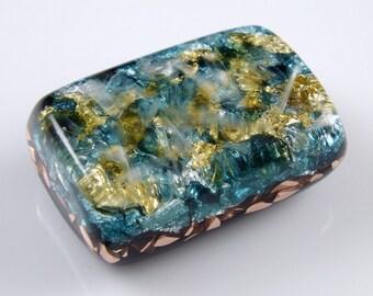 Moldavite Pocket Orgonite Orgone Generator.. Arkansas Crystals, Phenacite, Petalite, Tourmaline, Elite Shungite, Gold Flake (j32)