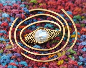 Bronze Spiral Shawl Pin