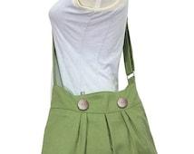 Christmas Sale 10% off Grass green canvas messenger bag, shoulder bag, diaper bag, travel bag cross body bag with buttons, zipper closure