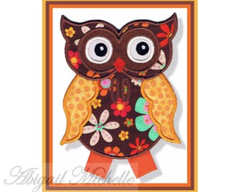 Owl Banner Add On - 3 Sizes, Machine Embroidery