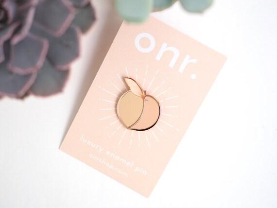 Feeling Peachy Enamel Pin // peach pin enamel pin lapel