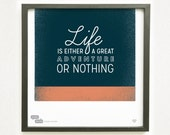Helen Keller Quote - He Said She Said series - Graphic Design Typography Giclee Prints