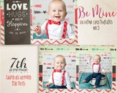 Be Mine 5 7x5inch CARD templates for photographers