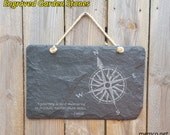 Engraved Slate Sign, Garden Stones, Garden Sign, Patio Decor, Engraved Stone, Anniversary Gift, Housewarming Gift FREE PERSONALIZATION