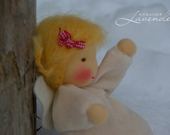 SALE Guardian Angel, Waldorf Inspired Doll , Waldorf Angel,  6in Pocket Doll soft toy ECO friendly