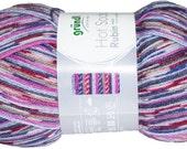 Rubin German self striping sock yarn Hot Socks  Grundl, superwash wool/polyamid 03 multi